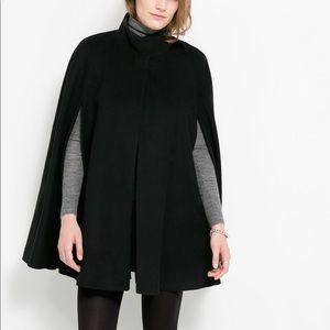 COS Black Wool Cape